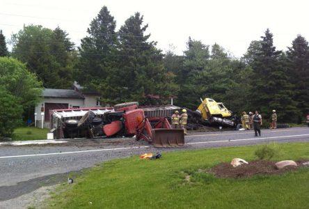Accident majeur sur la 122 à Saint-Edmond