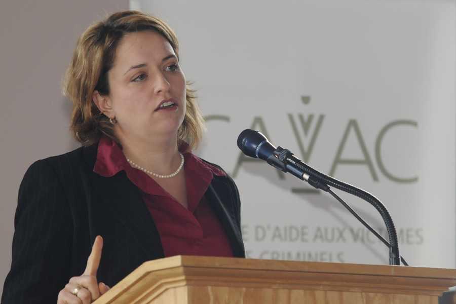 Annie Lampron avait raconté son histoire lors d'une conférence du CAVAC