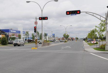 Drummondville scindée en 2 circonscriptions ayant pour frontière le boulevard Saint-Joseph