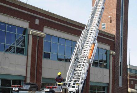 Incendie en hauteur, Drummondville est en sécurité