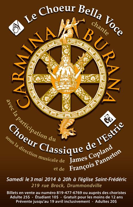 Le Choeur Bella Voce chantera Carmina Burana