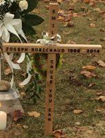 La tombe de Joseph Robichaud vandalisée