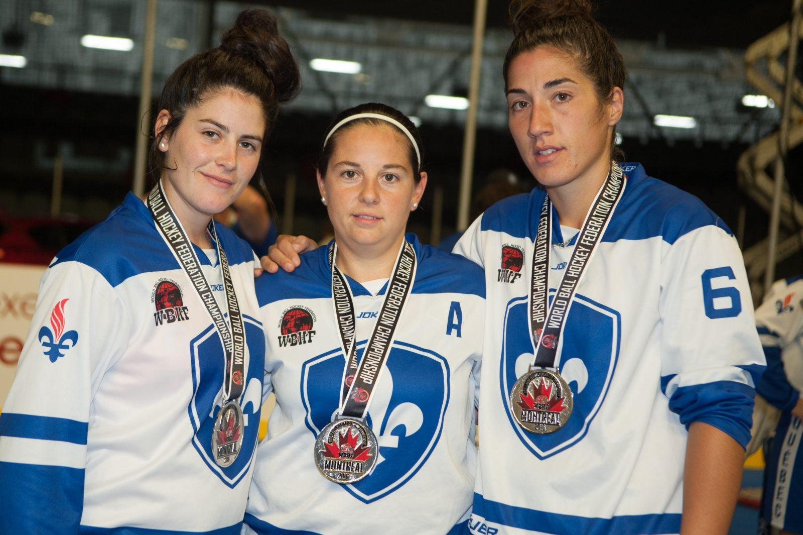 Hockey-balle : l'or et l'argent pour le Québec