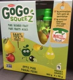 Rappel de GoGo squeeZ pour cause de moisissures
