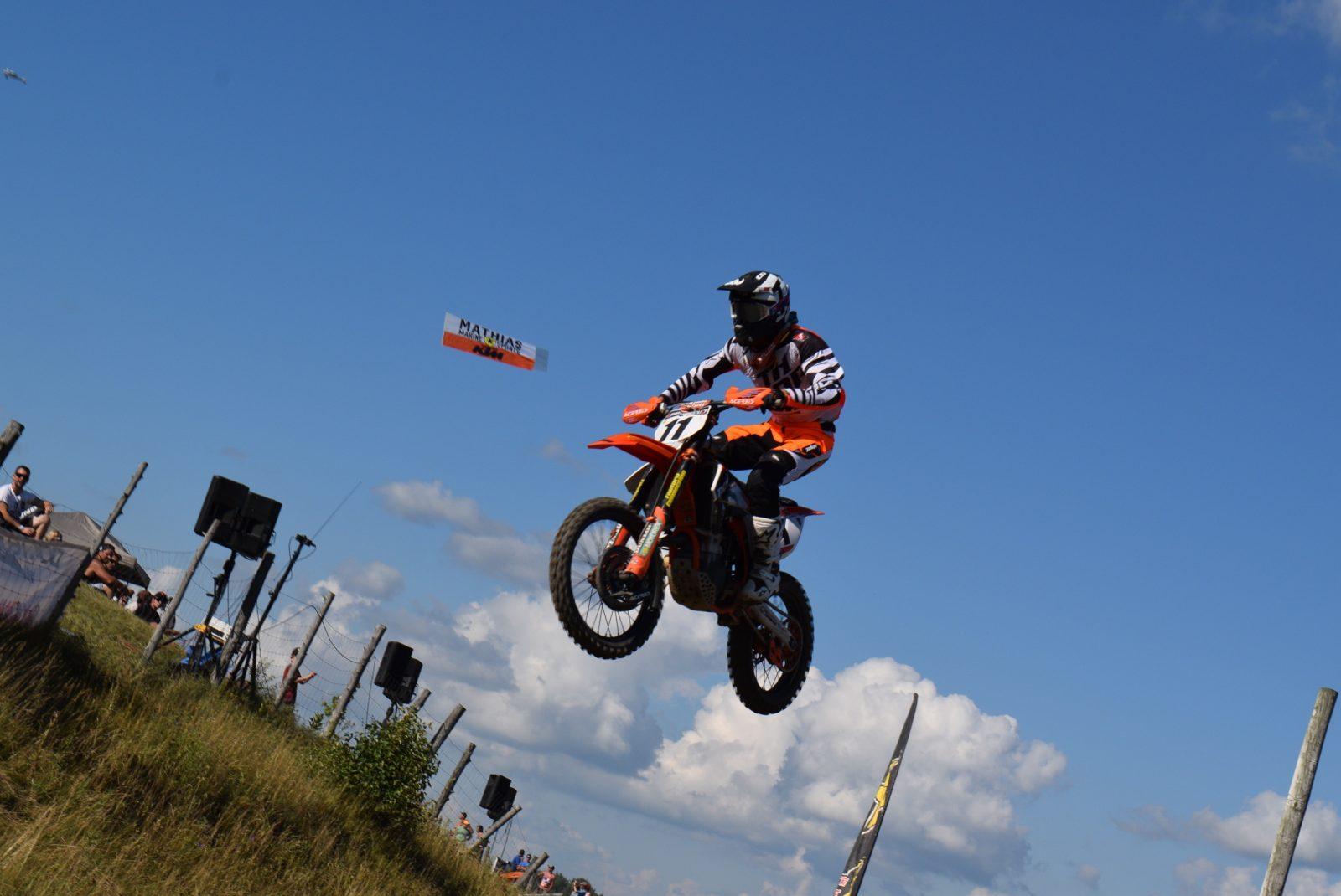 Kaven Benoit monte sur son premier podium en motocross MX1