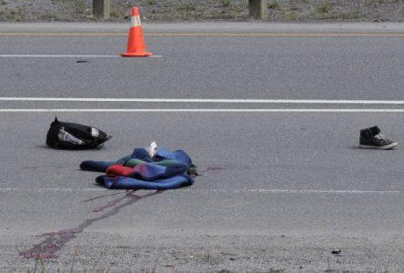 Le piéton Matthew Lacelle a perdu la vie en tentant de traverser la 20