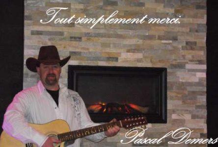 Le chanteur country Pascal Demers lance un premier disque