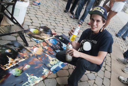 Drummondville a son «space painter»