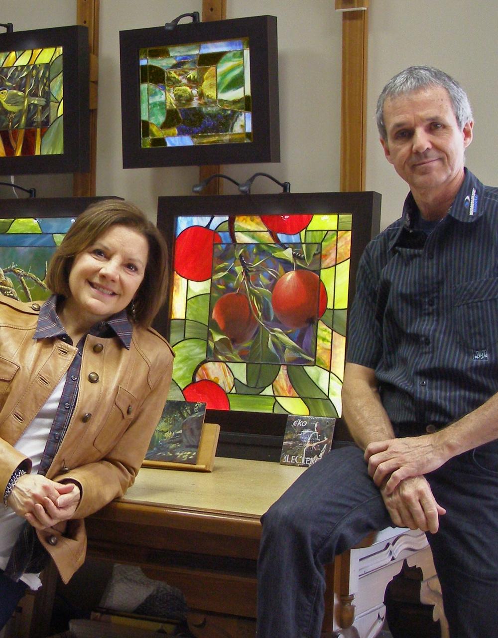 Sylvie Savoie et Luc LeClerc au Salon des métiers d'art de Montréal