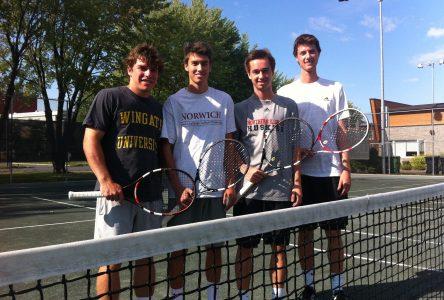 L'aventure de la NCAA appelle quatre joueurs de tennis d'ici