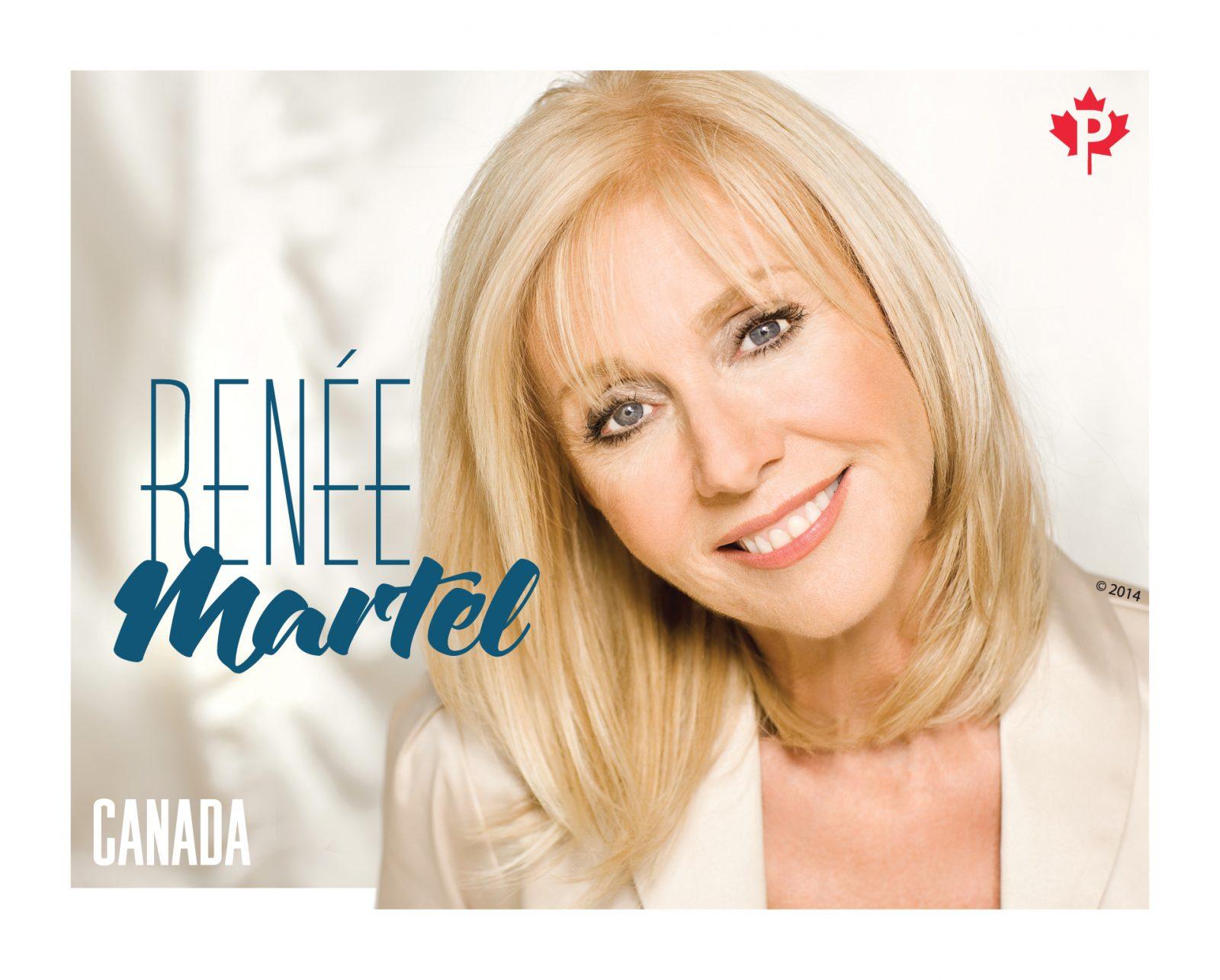 Renée Martel immortalisée sur un timbre de Postes Canada