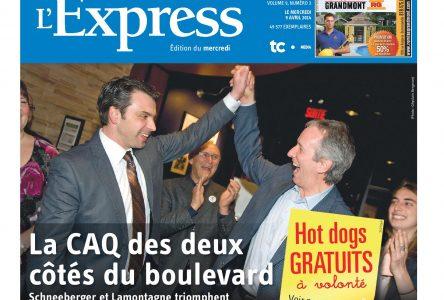 La une de L'Express du 9 avril 2014