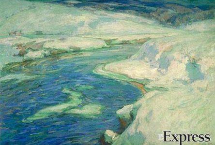 Une œuvre du peintre Marc-Aurèle de Foy Suzor-Coté exposée