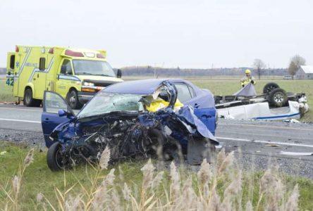 Accident de la route à Saint-Guillaume : deux morts