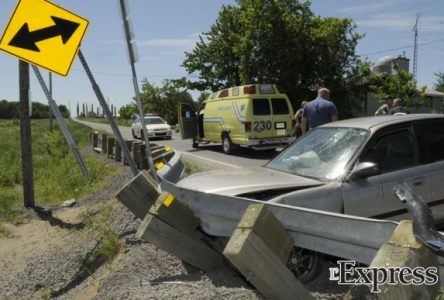 Accident avec blessé à Saint-Bonaventure (photos)