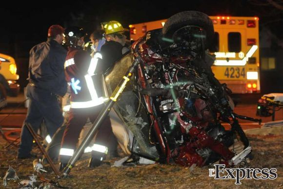 Accident spectaculaire sur le boulevard Allard (photos)