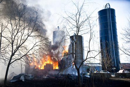 Incendie majeur à Saint-Joachim