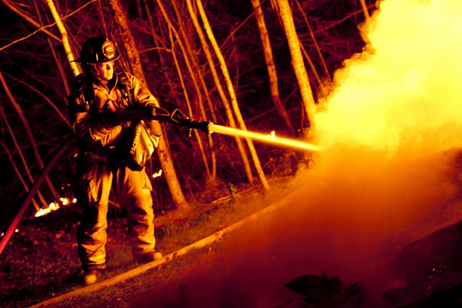 Incendie suspect à Saint-Nicéphore (photos)