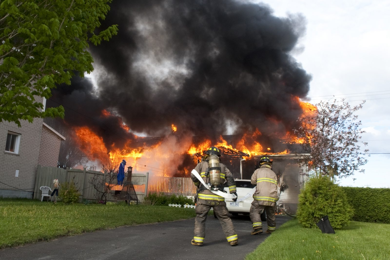 Nuit extrême pour les pompiers (photos et vidéo)