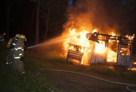 Incendie dans une cabane à sucre