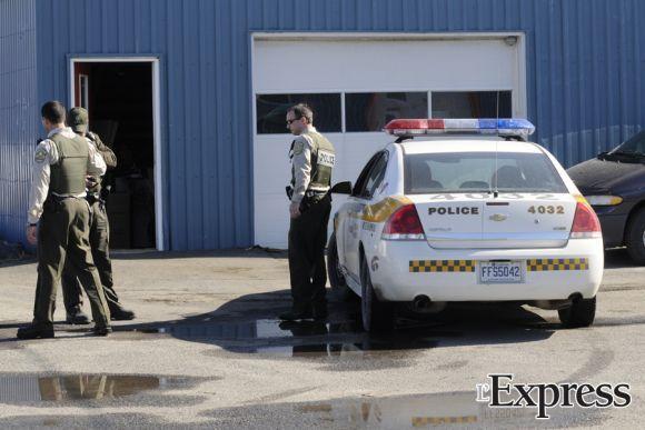 Poursuite policière dans les rues de Drummondville et Saint-Charles (photos)