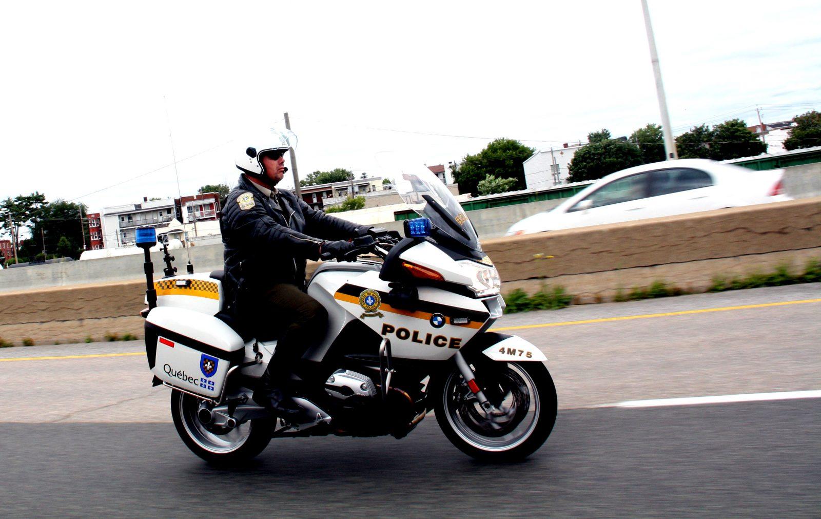 Stéphane Bilodeau, policier motard pour la SQ