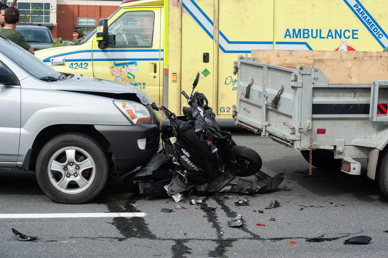 Un scooter réduit en bouillie par un conducteur en état d'ébriété