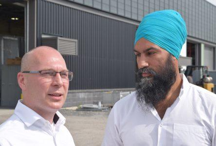 Jagmeet Singh à Drummondville samedi