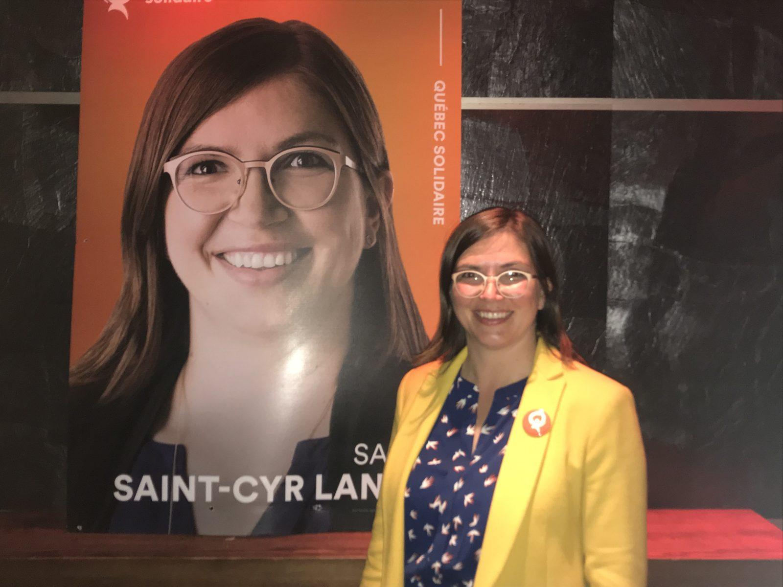Sarah Saint-Cyr-Lanoie est déjà prête pour la prochaine élection