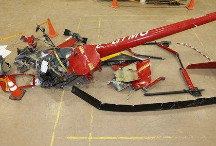 Février 2018 : un hélicoptère s'écrase à Saint-Joachim-de-Courval