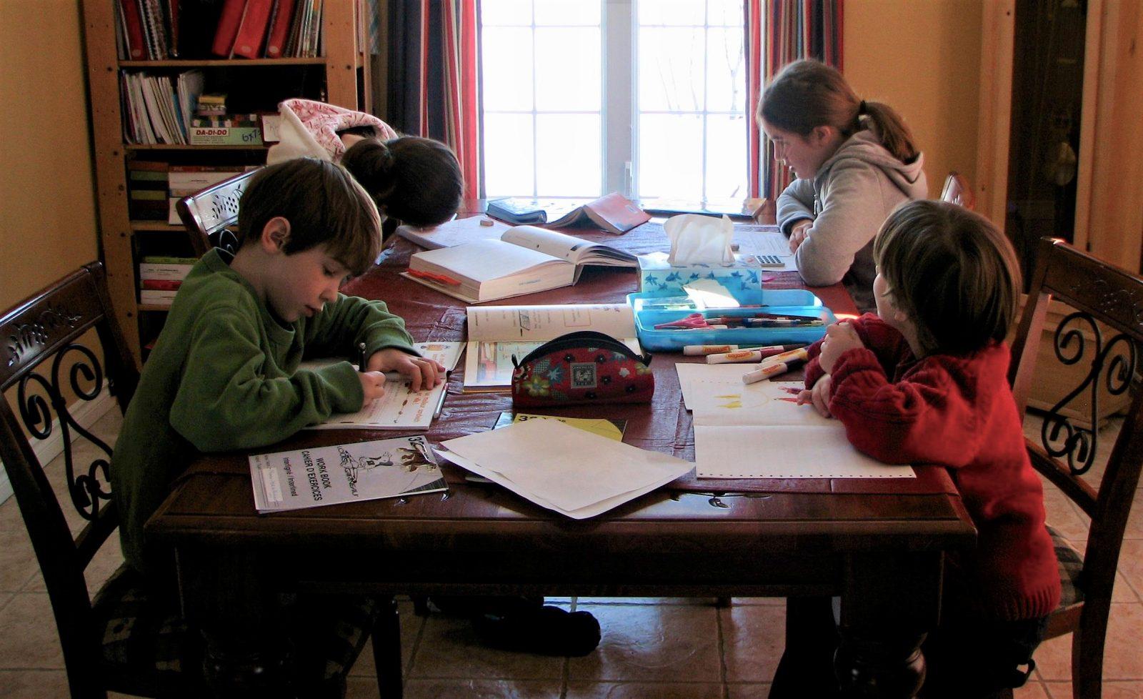 L'enseignement à la maison pour plus de temps en famille