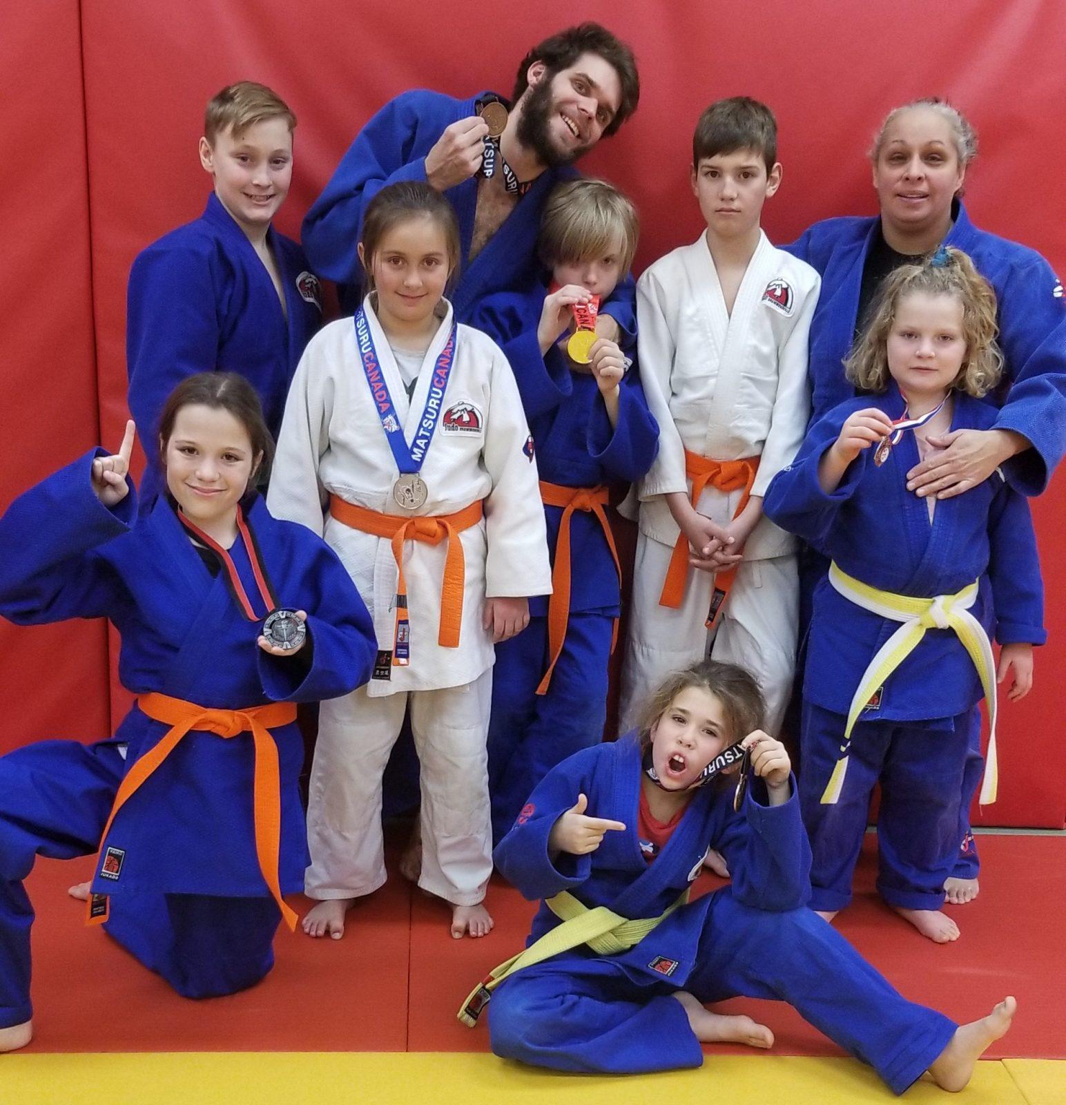 Sept médailles pour le club de judo de Drummondville