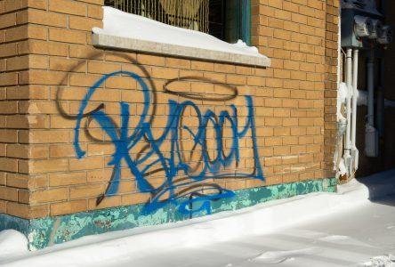 Recrudescence de graffitis au centre-ville
