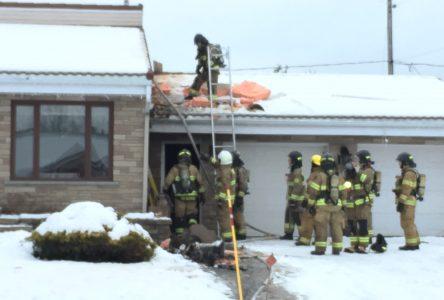 Un début d'incendie dans une résidence familiale
