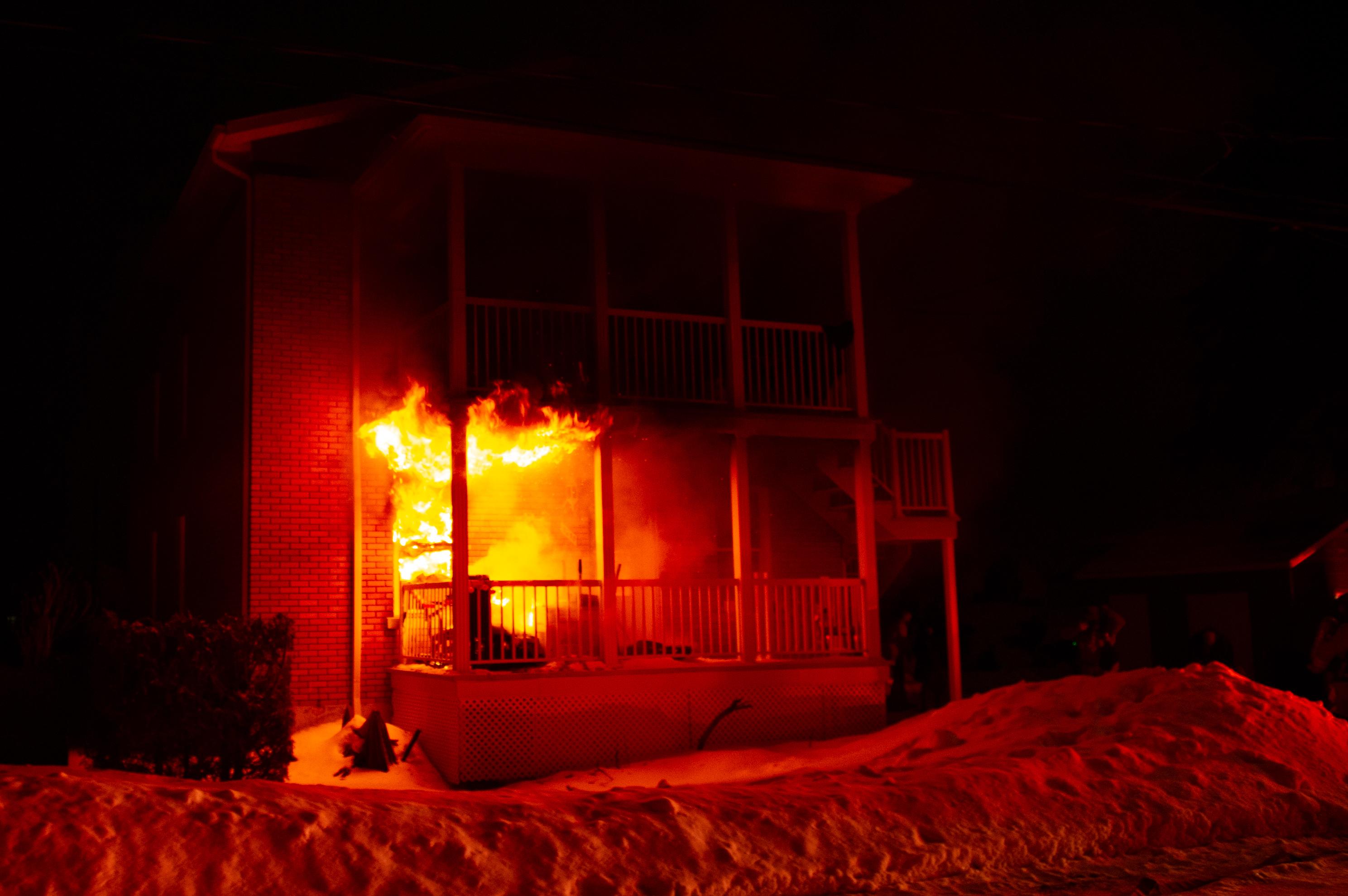Incendie : deux familles à la rue
