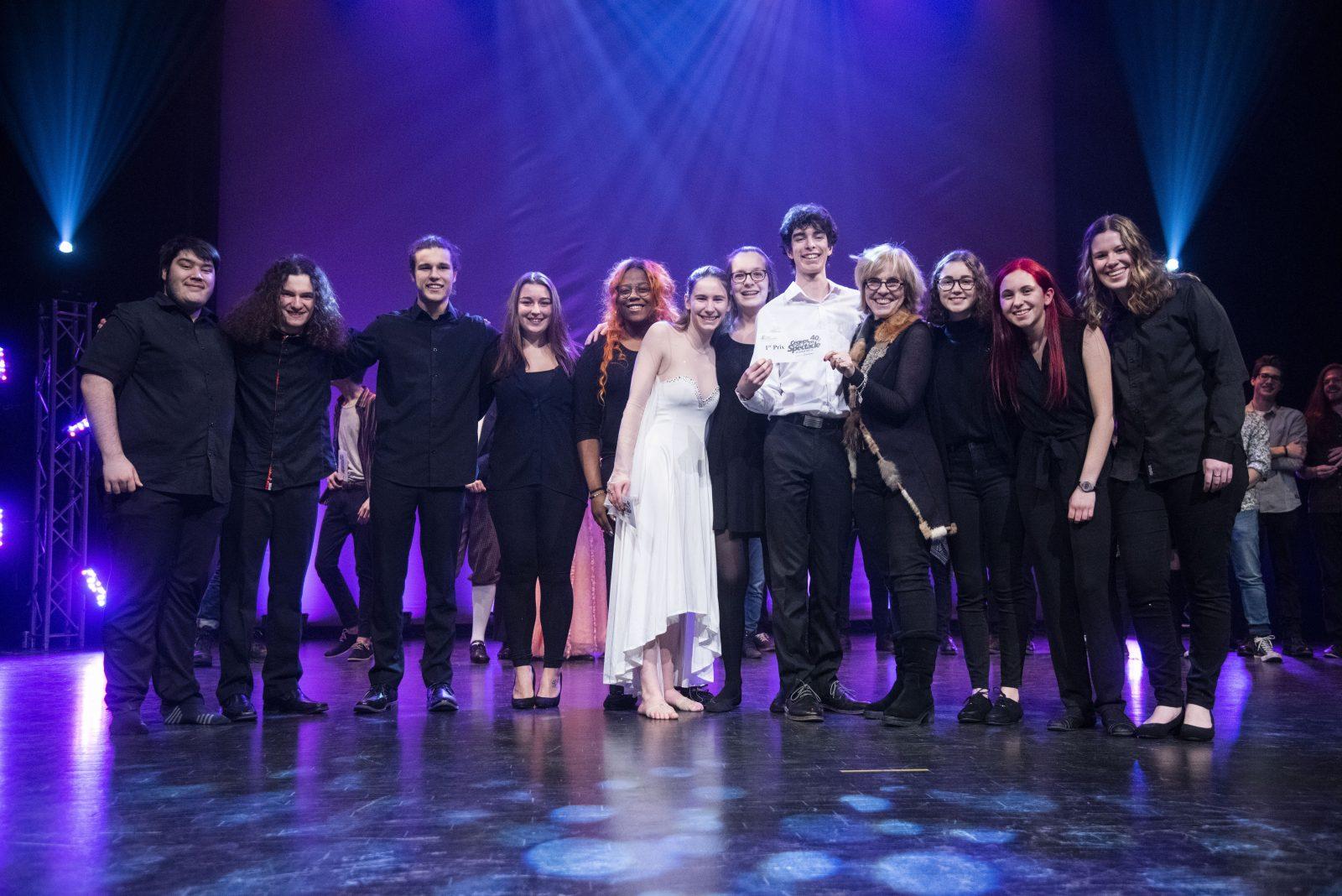 Samuel Fecteau et ses musiciens à la finale régionale de Cégep en spectacle