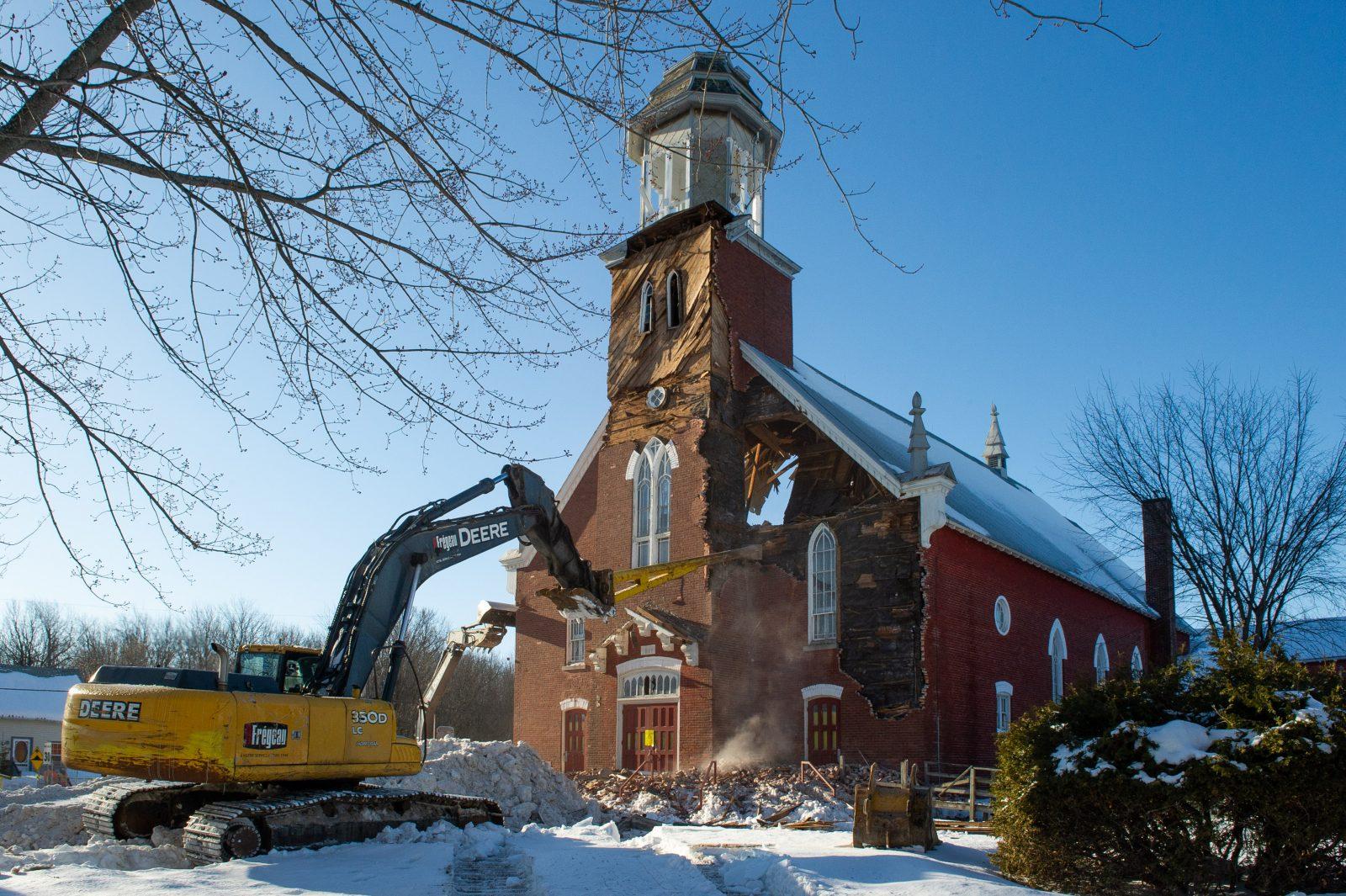L'église de Saint-Edmond-de-Grantham démolie