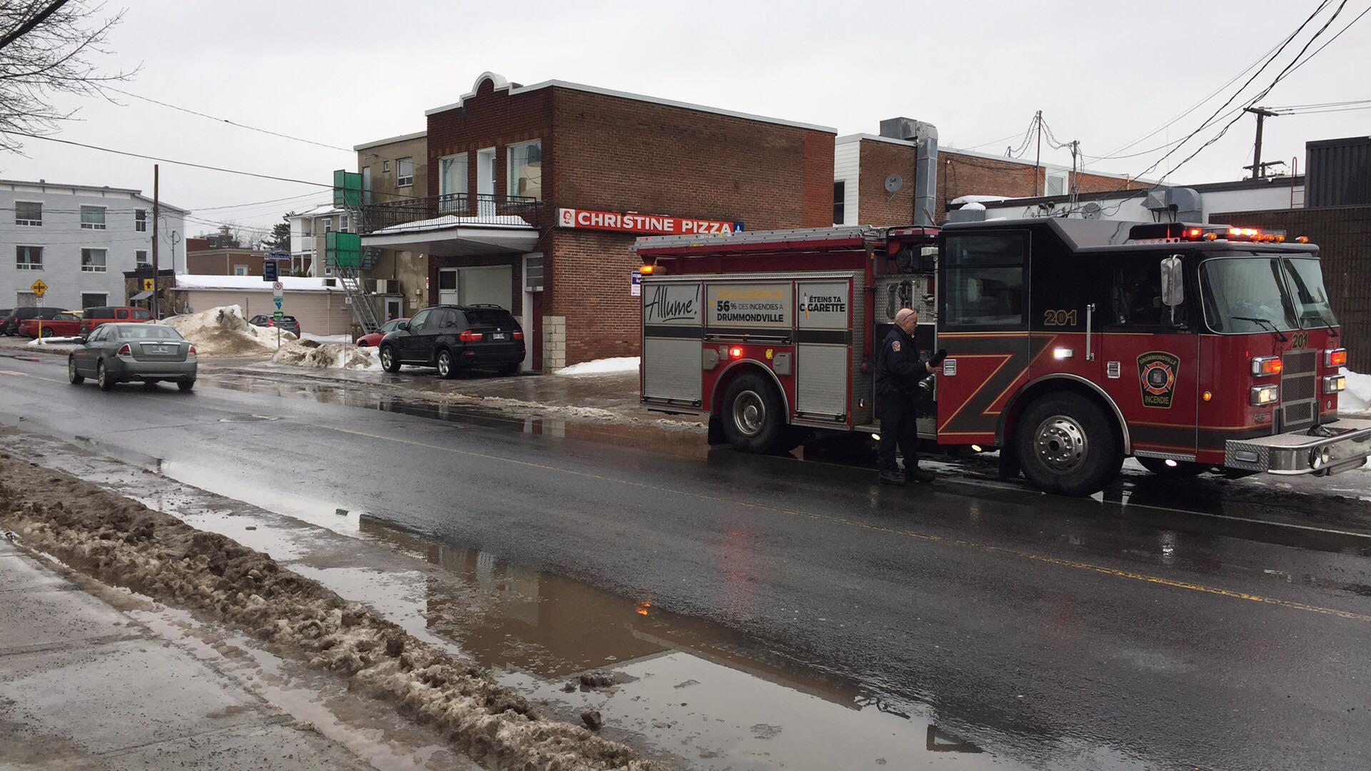 Intervention des pompiers chez Christine Pizza