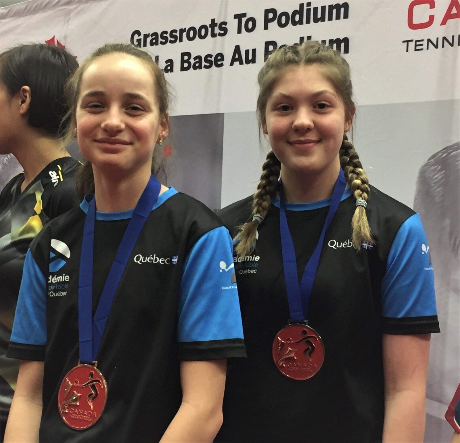 Des pongistes du club Intersport se démarquent au championnat canadien
