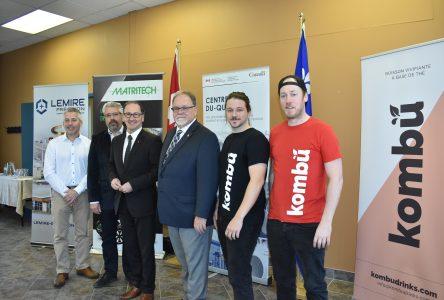 Une aide financière à trois entreprises de Drummondville