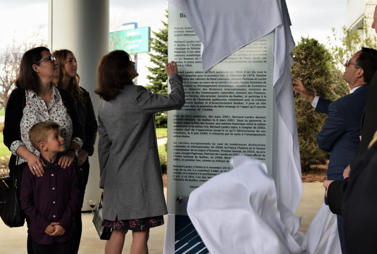 La SDED renomme son édifice à la mémoire de Bernard Landry