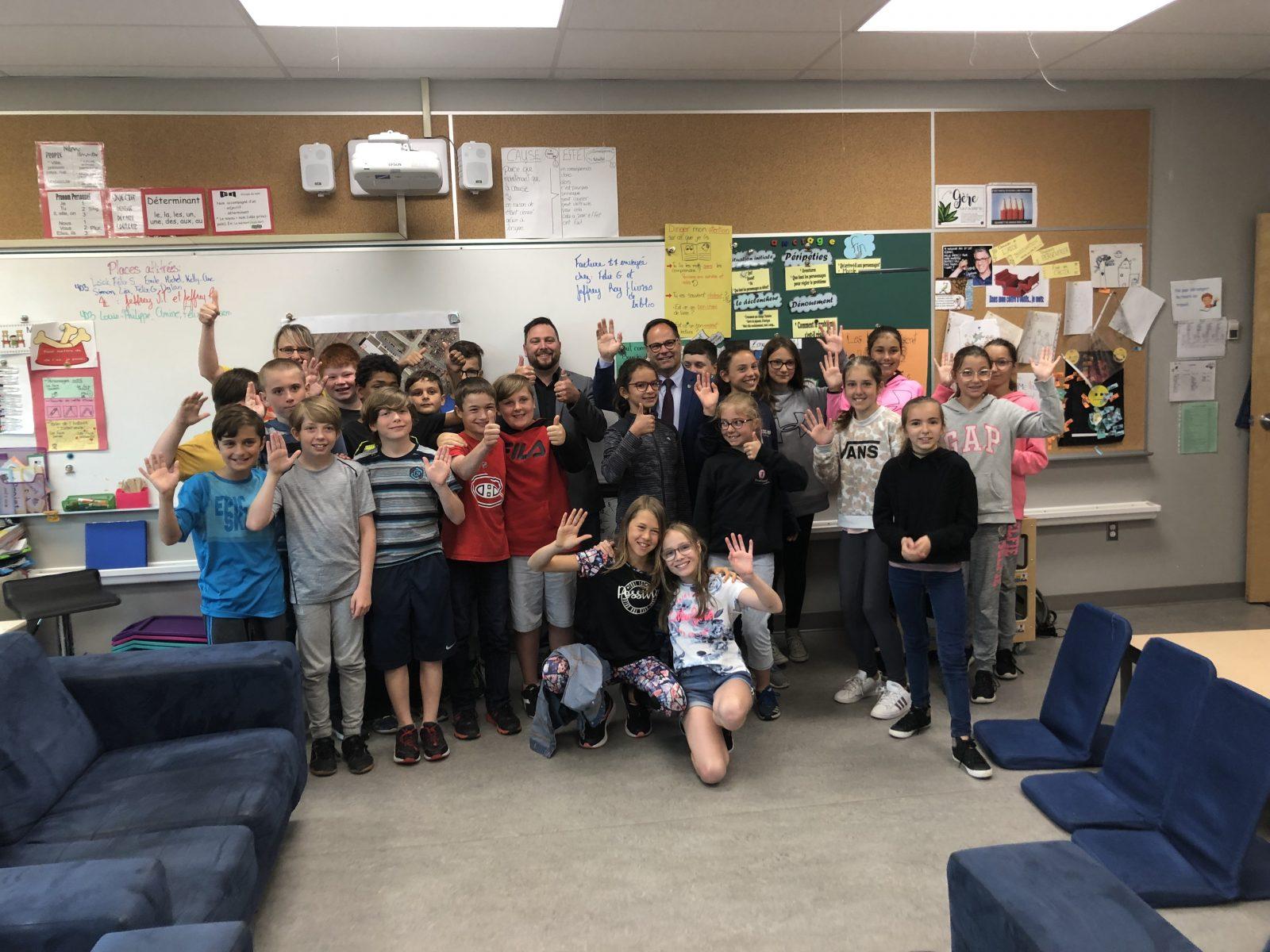 Les élèves de l'école aux Quatre-Vents ont convaincu le maire