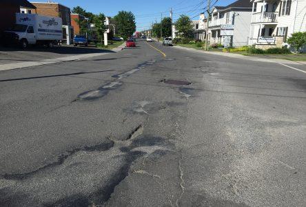 La rue Saint-Pierre, la pire route à Drummondville