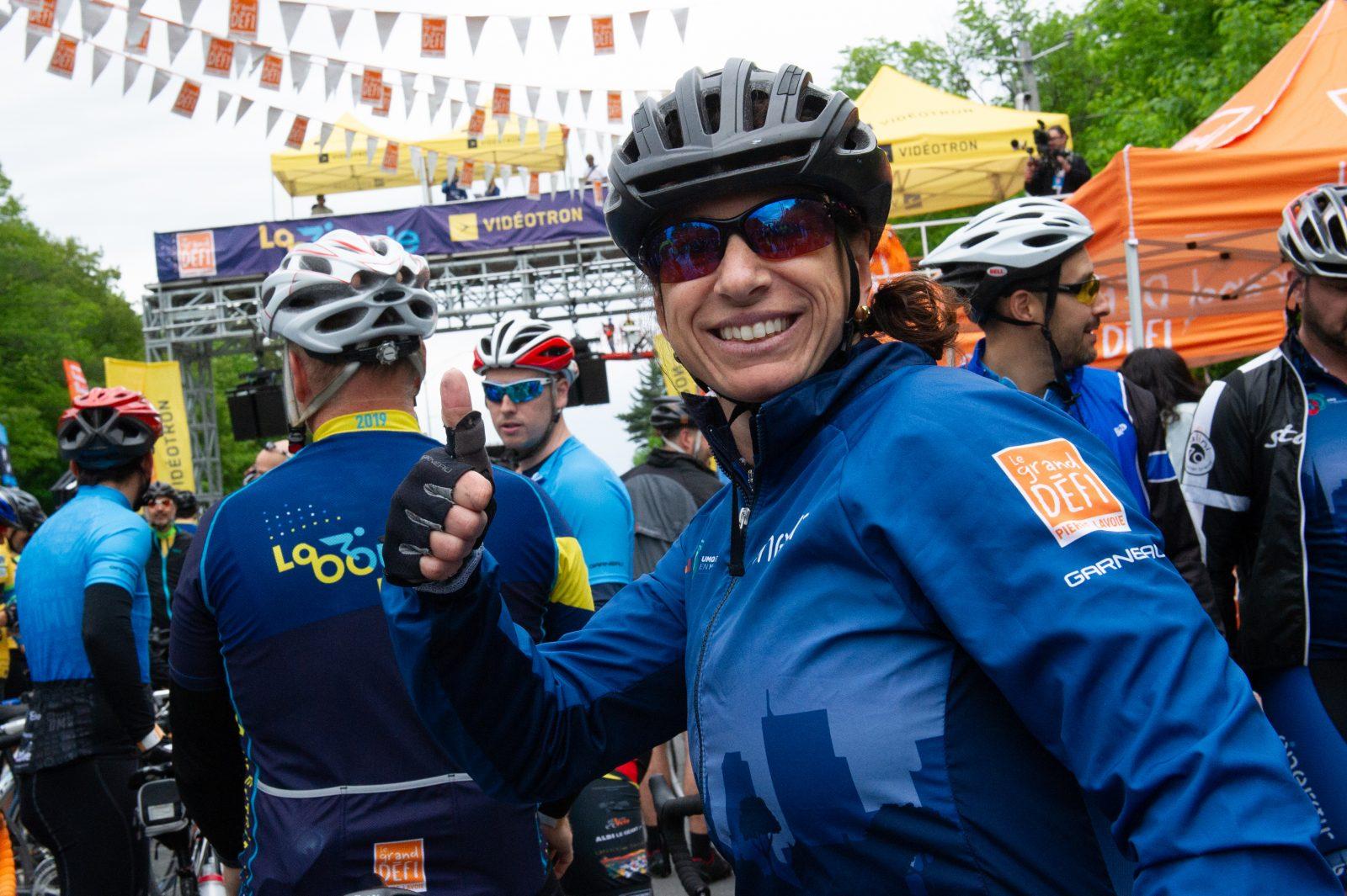 Grand défi Pierre Lavoie: mission accomplie pour Catherine Lassonde