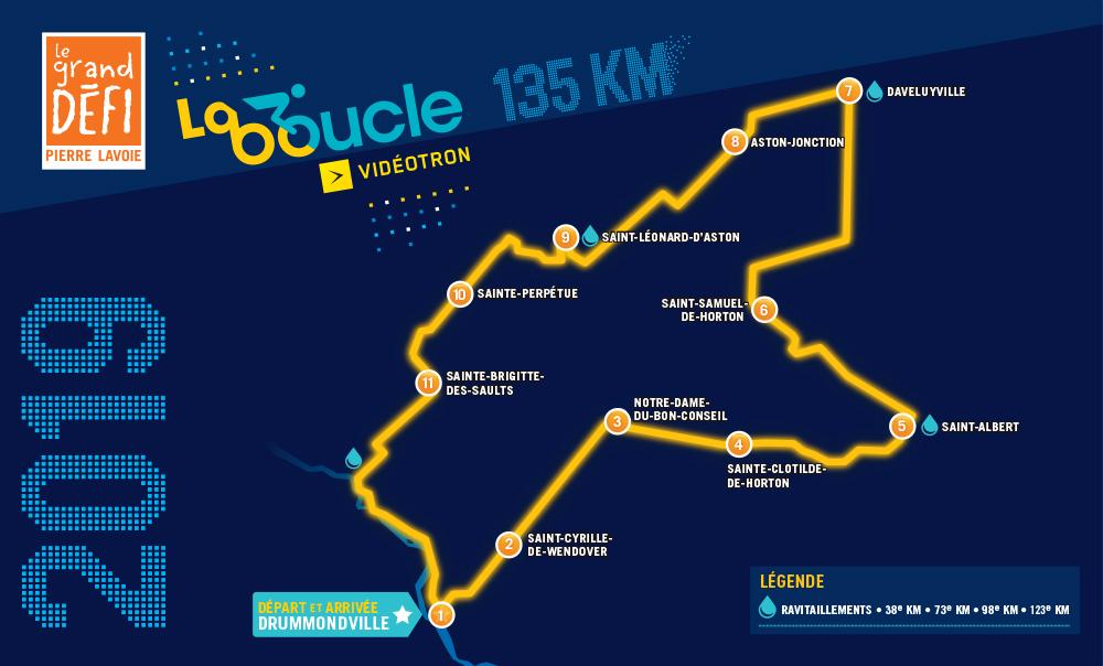 À mi-parcours du 1000 km du Grand Défi Pierre Lavoie
