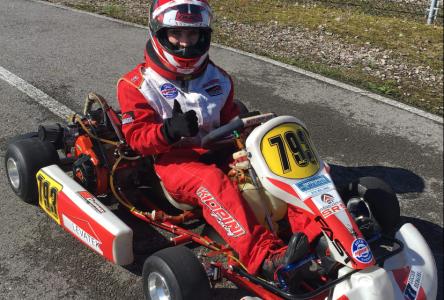 Raphael Kiopini, le Drummondvillois parmi l'élite en karting