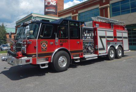 Un nouveau camion de pompier à la fine pointe de la technologie