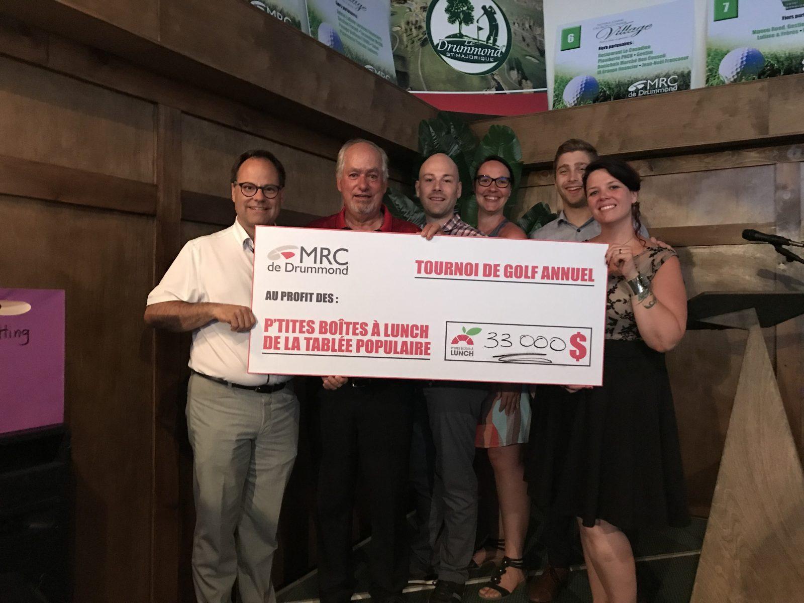 Le tournoi de golf de la MRC recueille 33000 $