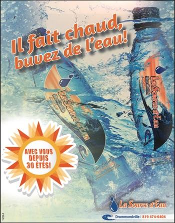 IL FAIT CHAUD, BUVEZ DE L'EAU !