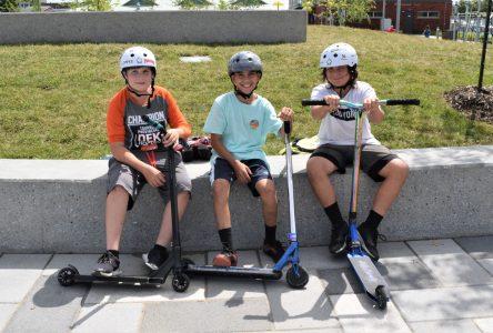 Le skate plaza fait bien des heureux